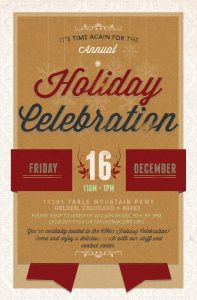 2016 Holiday Celebration Invitation