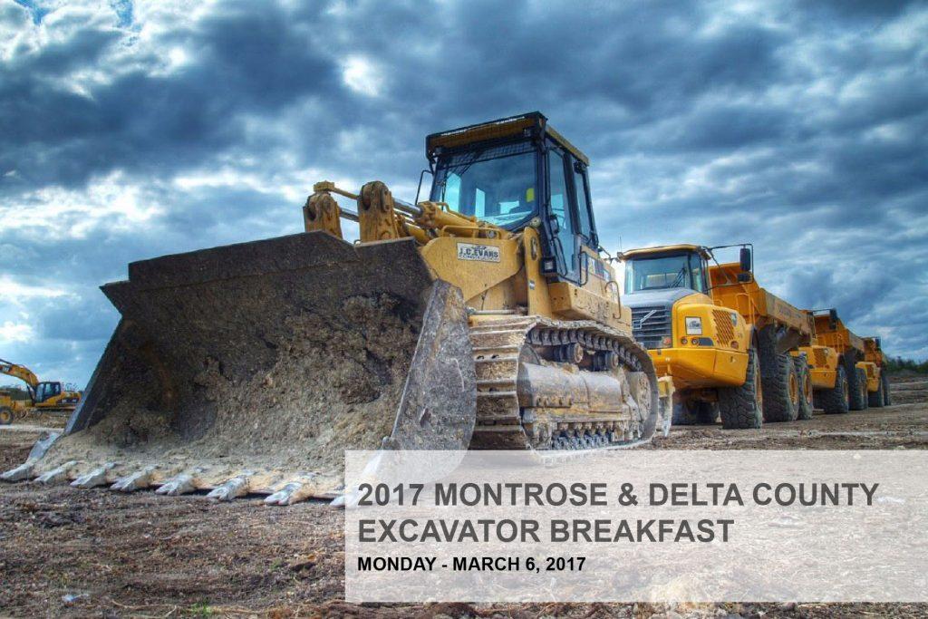 Excavator B reakfast Montrose and Delta