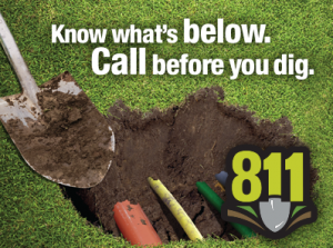 dial 811 for underground cable locator utility company