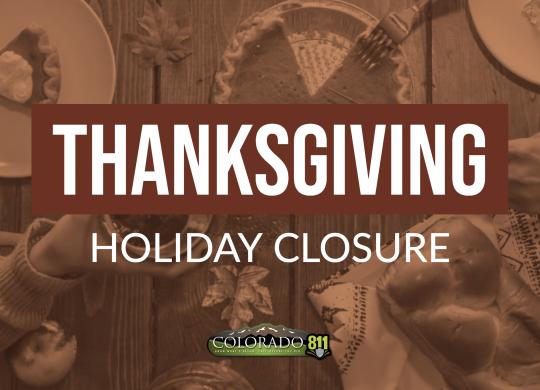 Thanksgiving Closure 2019