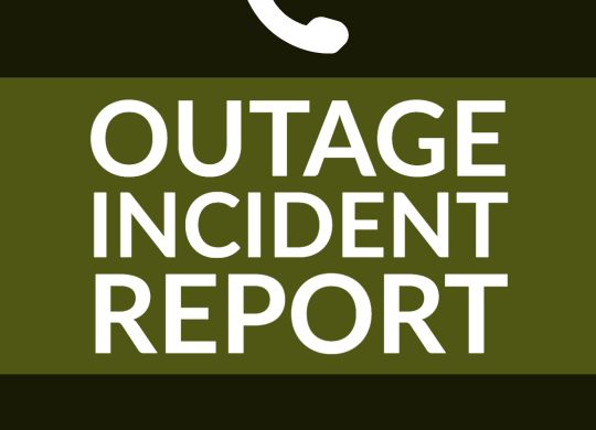 Outage Incident Report Graphic July 2020